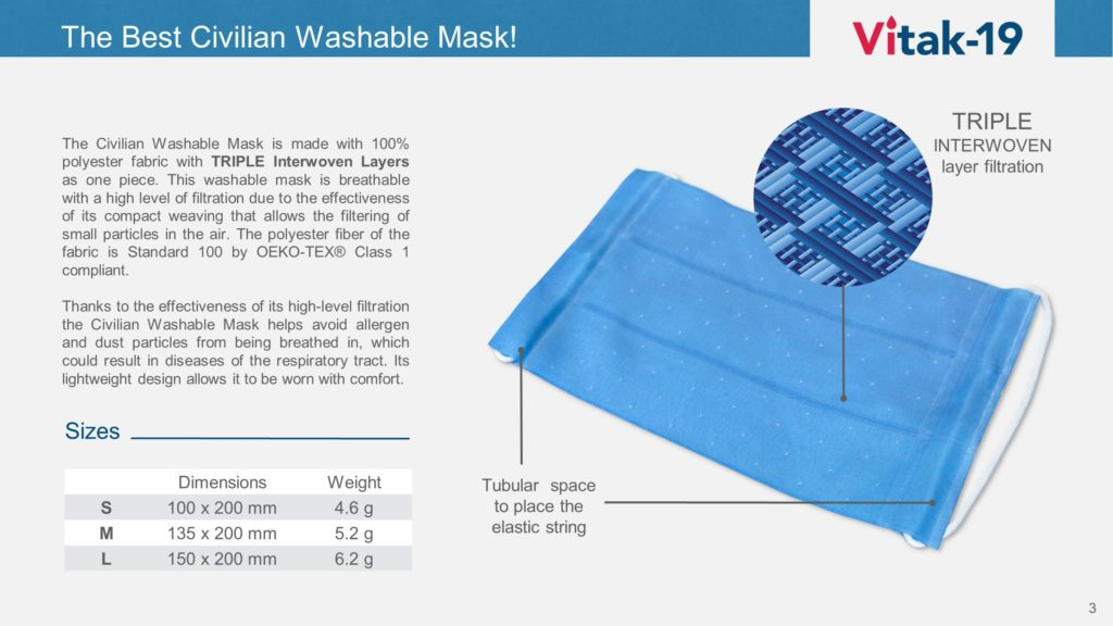 Vitak Washable Mask 3
